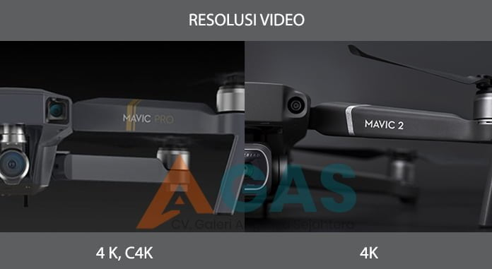 Perbedaan Resolusi Video kamera DJI Mavic 2 Pro vs DJI Mavic pro