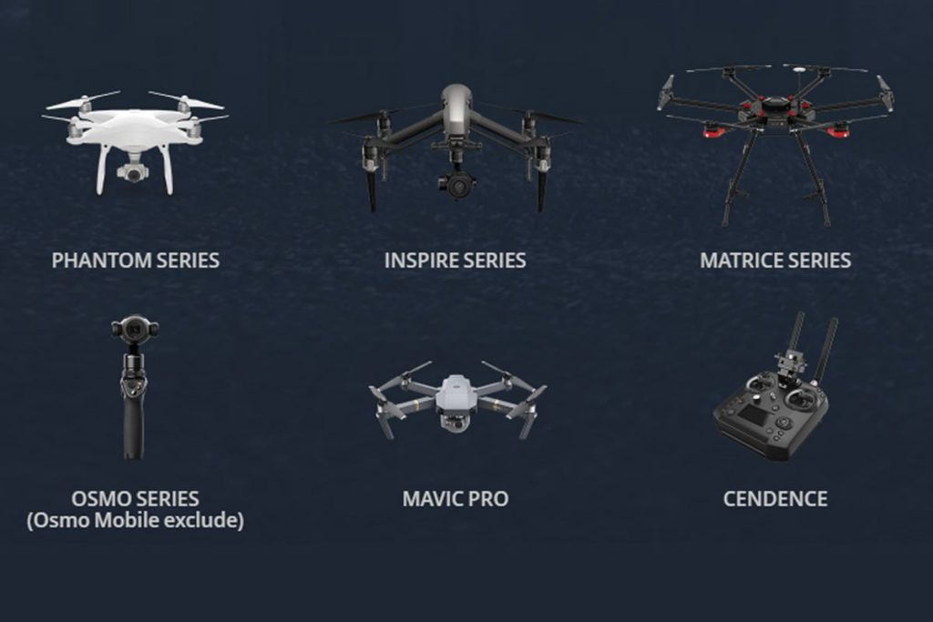 Drone yang disupport DJI Crystalsky